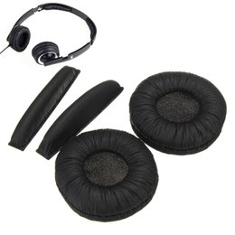 Wholesale Headband Headphone Replacement - Wholesale Soft Replacement Ear Pads Headband Cushions For Sennheiser PX100 PX200 Protective Headphones Black