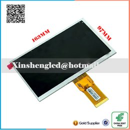"""Wholesale Tft Screens Replacements - Wholesale- New LCD Display Matrix 7"""" TEXET TM-7076 X-pad NAVI 7.1 3G Tablet TFT inner LCD Screen Replacement Panel Parts Free Shipping"""