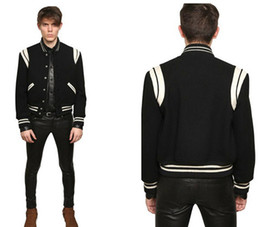 Wholesale Mens Star Jacket - Fall-High Quality Star Looks Fashion Mens Letterman Jackets For Men Hip Hop Hoodies Baseball Varsity Jacket