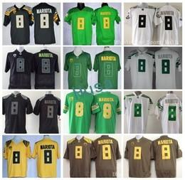 Wholesale American Football Jersey White - Oregon Ducks 8 Marcus Mariota College Football Jerseys American Green Black Yellow WhiteFor Sport Fans Embroidery And Sewing Logo