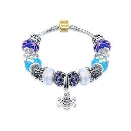 Wholesale Bead Wholesale Free Delivery - 2016 Hot Sale Charm Pandora Bracelet Bangles With Lucky Beads, Fashion Bracelets, fast delivery and free shipping