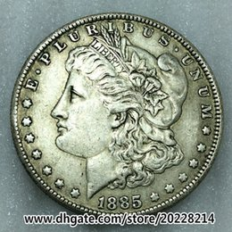 Wholesale collectible money - 1885-O US Morgan Silver Dollar replica high quality Free shipping 27g 38mm Brass plated with silver