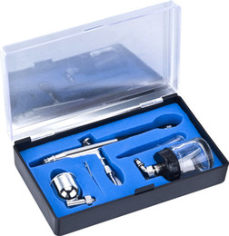 Wholesale Double Trigger - Model 134 Airbrush Set Double-action Trigger Air-paint Control With 7cc&22cc Side Cup 0.3mm Tip Side Feed