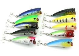 Wholesale Top Saltwater Lures - HENGJIA 20pcs lot 6CM 7G 10 colors Top water plastic fishing hard bait Popper fishing lures