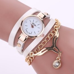 Wholesale gift secret - 2016 New Fashion Women Bracelet Watch Gold Quartz Gift Watch Wristwatch Women Dress Leather Casual Bracelet Watches