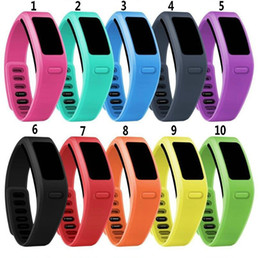 Wholesale Fast Bands - DHL Fast Ship New Soft Silicone Replacement Wrist Watch Band Strap for Garmin Vivofit1 Vivofit 1 Smart Watch