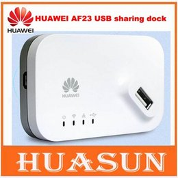 Wholesale lte router wifi - Original unlocked HUAWEI AF23 4G LTE 3G USB Sharing Dock Router Ethernet WiFi Hotspot Access Point