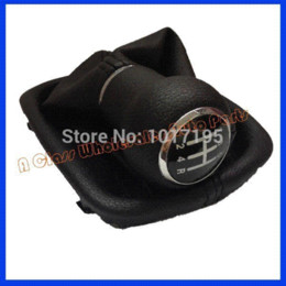 Wholesale Audi A6 Shift Knob - Free Shipping Car Gear Shift Knob With Leather Boot 5 Gear Complete for AUDI A6 C5 1997 1998 1999 2000 2001 2002