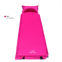 Wholesale Plastic Mattress Pads - Camping Tent Mat Sleeping Automatic inflatable Air bed camping Self inflating mattress outdoor moisture-proof pad