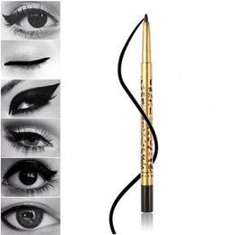 Wholesale Eyeliner Case - 1PC gold leopard casing new makeup brand liquid eyeliner pencil pen waterproof no dirty eye liner make up to eyes