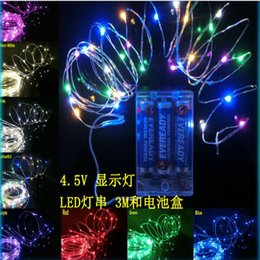Wholesale Christmas Led Lights Series - 3M 30LEDs AA Battery Operated Led String Mini LED Copper Wire String Fairy Light Christmas Xmas Home Party Decoration Light Warm Pure White