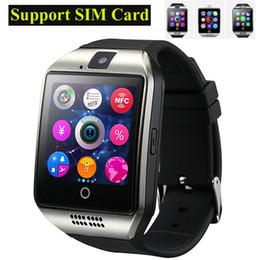 apro smart watch Скидка 2016 NFC Смарт-часы Q18 1.54 HD дюймовый сенсорный экран камеры SmartWatch Поддержка SIM-карты TF для IOS и Android HTC телефон VS APRO Q18S OTH289