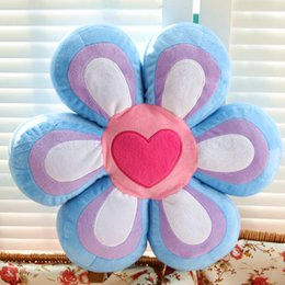 Wholesale Valentine Movie - Wholesale- 45*9cm Cartoon Wedding heart Petal plush pillow Flower Series at home decorate Plush Toys baby Birthday Valentines Gift