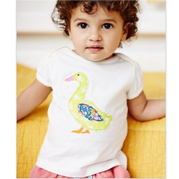 Wholesale Baby Clothing Polo - Baby Girls Clothes Duck T-Shirts Short Sleeve Fashion Girls Dresses Jumpers Outfits Summer kids tops polo shirt