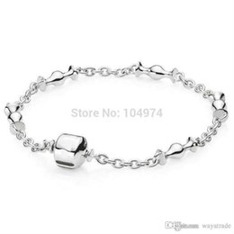 Wholesale European Beaded Bracelets - New 22 New Fashion! Wholesale Moments Charm Bangle 925 Silver Bracelet Fit European Charms Beads 18-22CM Length Free Shipping New New22 New