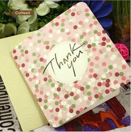 Wholesale Wholesale Note Cards Blank - Wholesale-5pcs pack Delicate Thanks giving blank greeting cards with envelope message note cards gift christmas blessing folding cards