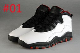 Wholesale Men Sneakers Factory Outlet - [With Box]Free shipping online Cheap new Air retro 10 10s X white black men's basketball shoes Factory outlet sports shoes sneaker for men