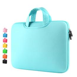 Wholesale Neoprene Sleeve Case - Laptop Handbags Sleeve Case Sponge Breathing Material Computer Laptops Bag Solid Notebook Tablet Bags 11 13 15 15.6 inch Size