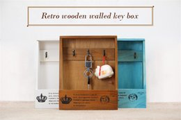 Wholesale Wall Key Organizer - Woody Storage Holders Organizer Creative House Wall hanging Decor Home Products Sundries Jewelry key Box Wall Hanger Decoration wholesale