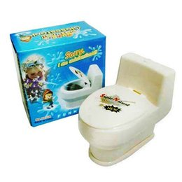 Wholesale Plastic Toy Toilets - sprinkler toilet toy tricky prank toys Halloween Fool 's Day funny toys wholesale