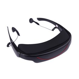 "Wholesale Eyewear 72 - TOP Quality 4GB 72"" 16:9 Virtual Wide Screen Video Glasses Eyewear Mobile Private Theater with AV Input Card Slot"