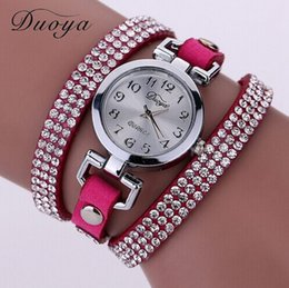 Wholesale Montre Dhl - New Arrive Luxury Rhinestone Bracelet Women Watch Ladies Quartz Watch Women Wristwatch Montre Femme DHL Free Shipping