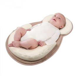 Wholesale Newborn Flat Head - Wholesale- Baby Pillow,Newborn,For Protecting Sleeping Head ,Preventing Flat Head,Toddler Safe Anti Roll Pillow,For 0-9M