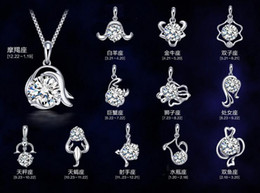 Wholesale Zodiac Pendant 925 - New 925 sterling silver necklace pendant twelve constellations pendants zodiac pendant excluding chain High quality free shipping