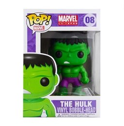 Wholesale Avengers Funko - New hot sale Funko POP The Avengers The Hulk Toy PVC Action Figure Collectible Kids Toys Gifts for Children 8CM