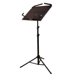 Trípodes de aluminio online-Nuevo FL-05 Soporte de música profesional plegable Pequeño instrumento musical Soporte de música trípode negro para Sheet Music Aluminium