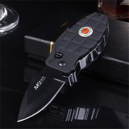 Wholesale Lighters Knives - Windproof lighters inflatable grenade torch re-use cigar knife 2 in 1 lighters