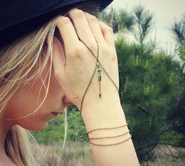 Wholesale Vintage Slave Bracelet - Romantic Slave Chain Bead Cupid Arrow Bracelets for Women Vintage Finger Wrist Accessories Bracelets Lots 12 Pcs