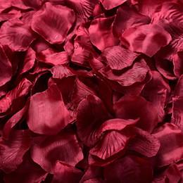Wholesale Halloween Garland Decoration - MIC Hot Sell 4000Pcs Dark Red Silk Rose Petals Wedding Flowers Favors Decoration Flowers Petals Garlands 2#