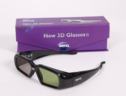 Wholesale Dlp Shutter 3d - Original genuine shutter 3D glasses DLP glasses for BenQ W1070   W750   W1080ST compatible other DLP-LINK projectors