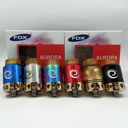 Wholesale E Cig Lights - Newest RDA Atomizer Aurora RDA Original 24mm E Cig Colorful Atomizer with LED Light E Cigarette Tank Vaporizer