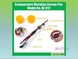 Wholesale Needle Pain - fast shipping portable 3tips 5tips Bio feedback pain relief therapy needle acupuncture point device meridian energy pen with retail box