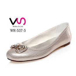 Wholesale Ballet Shoes 11 Black - 2016 New Style Comfortable Flat Ballerina Low Heel Bridal Shoes Wedding Dress Shoes Handmade Shoes Evening Shoes Prom Party Shoes Size 42