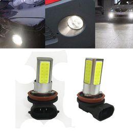 Wholesale H8 High Power Led Bulbs - 2 pcs H8 H11 12V 10W LED Car Light Bulb White 6000K LED Bulb High Power Fog Lights Driving Lamps Universal LED Lamp Plug and play