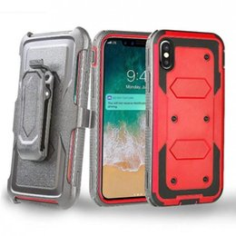 Wholesale Iphone Cases Wholesale Store - Robot Armor Hybrid Case With Belt Clip For Sumsung s7 edge s8 s8 plus note 8 iphone x 7 8 factroy store