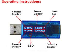 Wholesale Bit Dc - Wholesale-1PC 2.0 4 bit OLED USB detector voltmeter ammeter power capacity tester meter voltage current mobile usb power