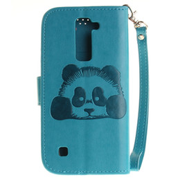 Wholesale galaxy grand cute cases - For LG G4 K7 M1 K10 K8 Samsung Galaxy Grand Prime G530 Wallet Leather Pouch Case Strap Panda Cute Cartoon Credit Card Stand TPU Cover Luxury