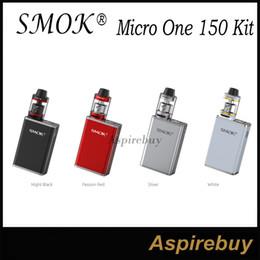 Wholesale Smok Vv - Smok Micro One 150 Kit R150 150W TC VV VW Box Mod with 4ML Minos Sub Tank SS Ni200 TI Wire SupportTCR Adjustment Portable Size 100% Original