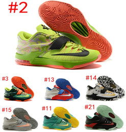 Wholesale Kd Prices Green - Newest Kevin Durant KD 7 Basketball Shoe KD7 Sports Shoe Athletic Running shoe Best price Quality With Standout Midsole Size US7-12 SZ:40-46