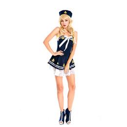 Wholesale Navy Dress Uniform - new Halloween costume dress navy sailor uniforms COS women ds costumes nightclub party studio portrait