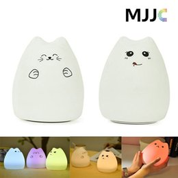 Wholesale Baby Breathing - Portable Silicone LED Multicolor Night Lamp Children Night Light Breathing Dual Light Modes Sensitive Tap Control for Baby Adults Bedroom