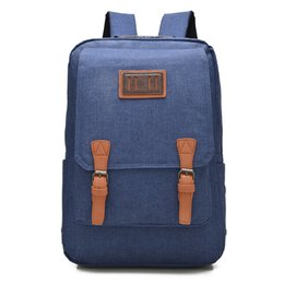 Wholesale Wholesale Plain Notebook - 2016 New Designed Men's Backpacks Black Canvas Bacpack for 15.6 Inch Notebook Bags Men Backpack School Rucksack