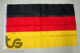 Wholesale German Flags - Germany   German national flag Free shipping 3x5 FT 90*150cm Hanging National flag Germany German Home Decoration flag banner