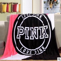 Wholesale Pink Plaid Bedding - throw Blanket fleece 130x150cm pink Manta Fleece Bedding Throws on Sofa Bed Car Portable Plaids Bedspread Hot Limited TV Blanket free