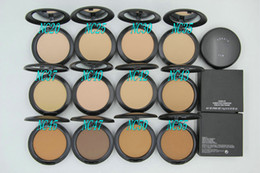 Wholesale Natural Acne - Hot Sales Makeup Studio Fix Face Powder Plus Foundation 15g 10 Pc