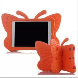 Kinder dicker schaumstoff online-3D Cartoon Schmetterling Kinder EVA Fall für iPad 2 3 4 Weiche Dicke Schaum Stoßfest Abdeckung Ständer Halter